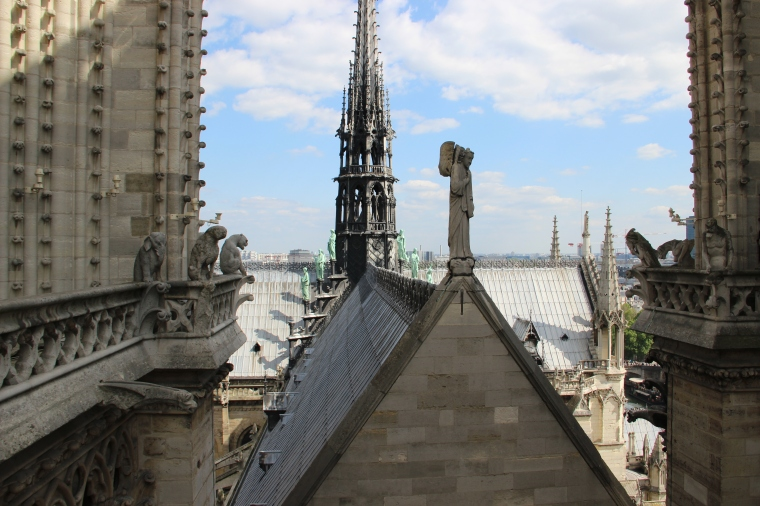 Gargoyles at the top of the Cathedral