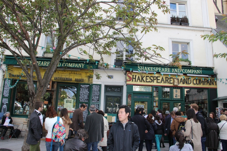 Shakespeare and Company Bookstore.
