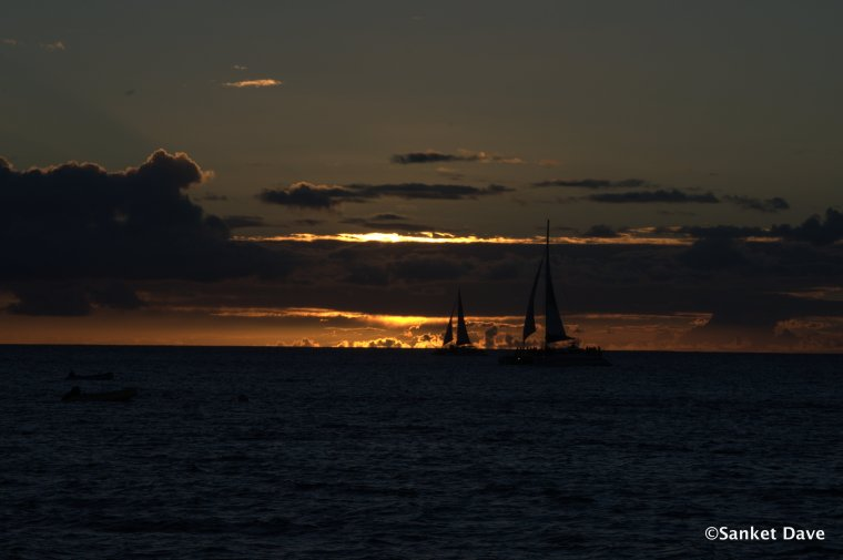 Sunset from the Kaanapali beach