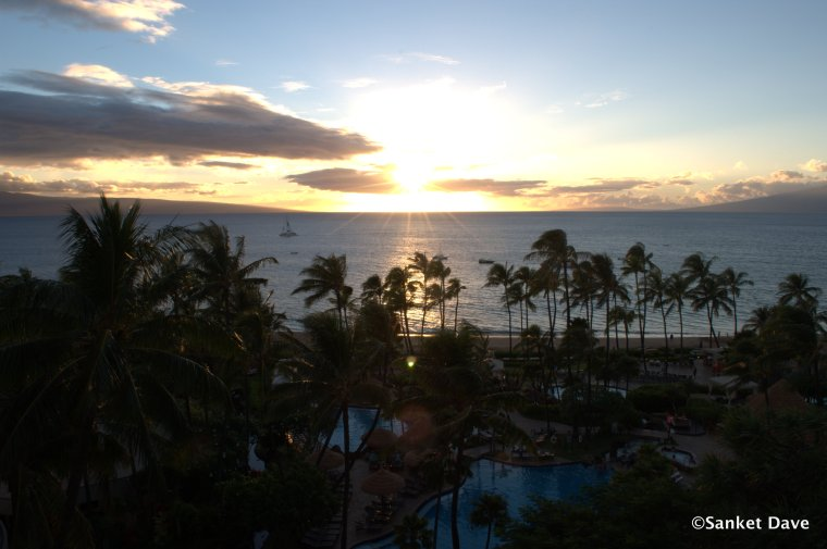 Sunset from our room