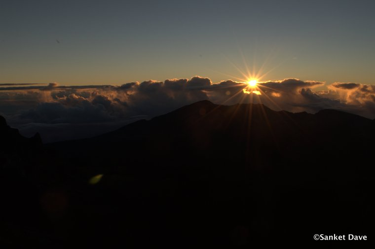 SUnrise at the Haleakala National Park