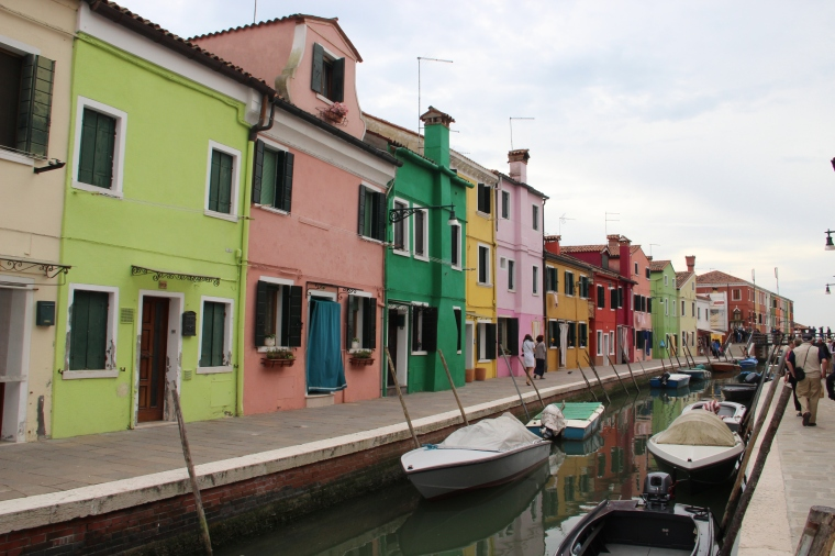 Beautiful colored houses.